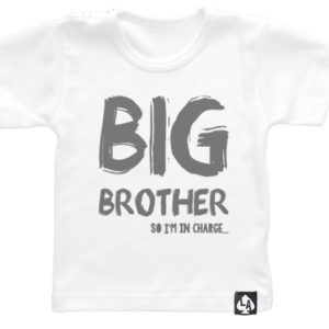 baby tshirt korte mouw wit big brother