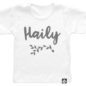 baby tshirt korte mouw wit custom