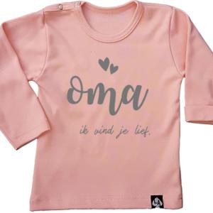 baby tshirt lange mouw roze oma