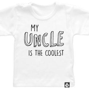baby tshirt oom korte mouw wit