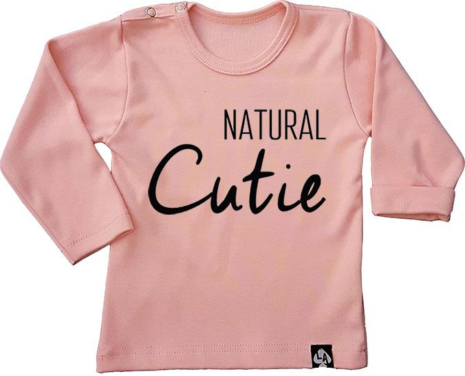 baby tshirt roze lang mouw cute