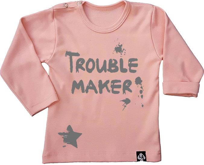 baby tshirt roze lange mouwen