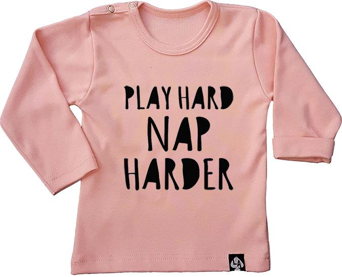 baby tshirt roze play hard