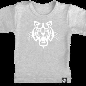baby tshirt tijger korte mouw grijs