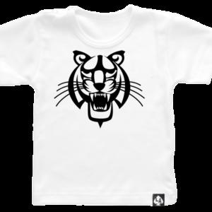 baby tshirt tijger korte mouw wit