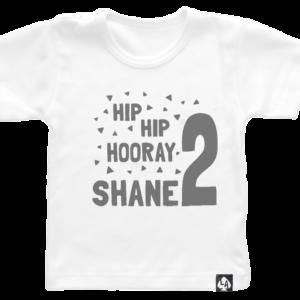 baby tshirt wit korte mouw birthday