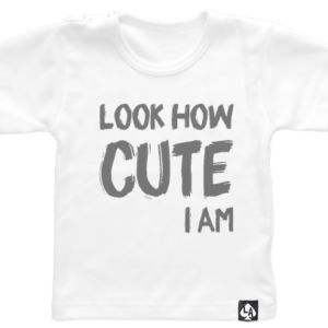 baby tshirt wit korte mouw cute