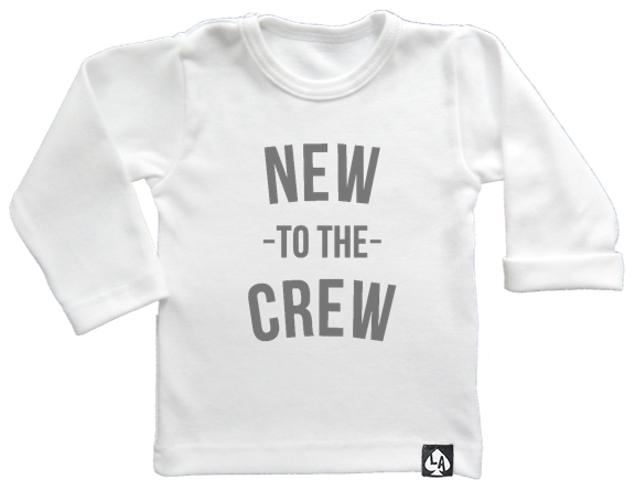 baby tshirt wit new to the crew