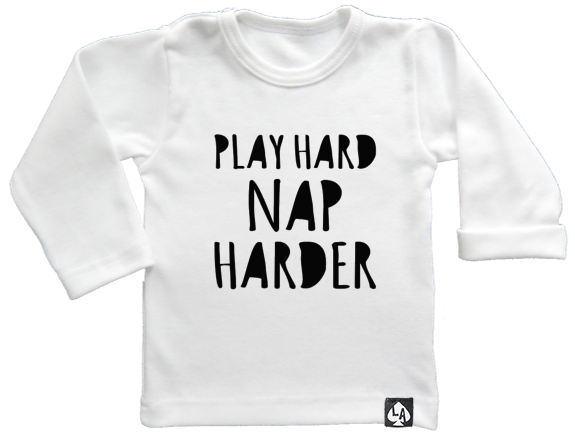 baby tshirt wit play hard