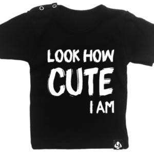 baby tshirt zwart korte mouw cute