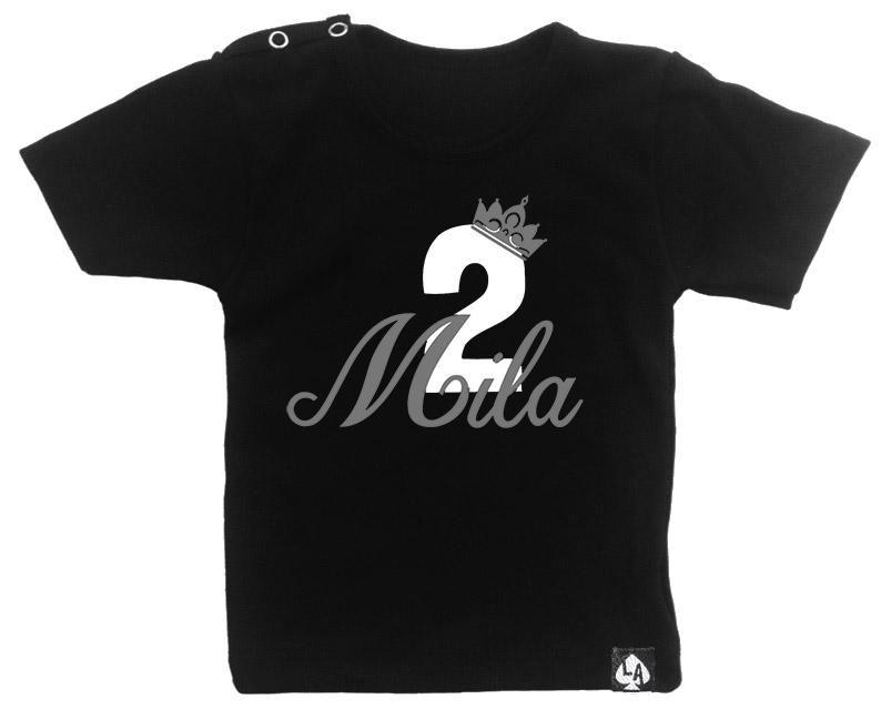 baby tshirt zwart korte mouw verjaardag