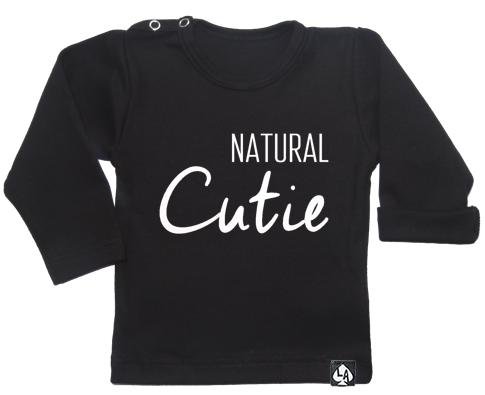 baby tshirt zwart lang mouw cute