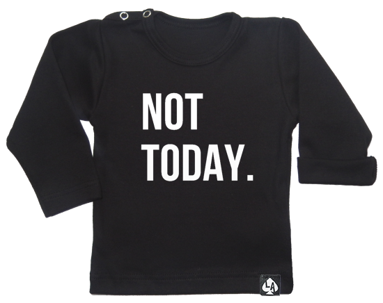 baby tshirt zwart not today