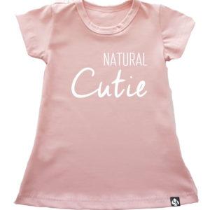 Baby zomer jurkje roze natural cutie