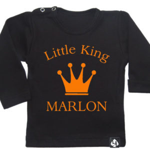 baby tshirt specials little king zwart