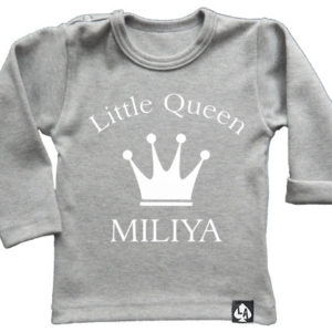 baby tshirt specials little queen grijs