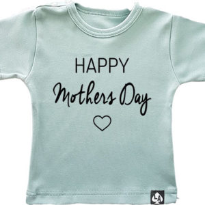 baby tshirt happy mothersday mintgroen