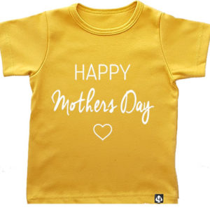 baby tshirt happy mothersday okergeel