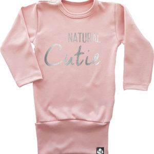 baby tuniek lange mouw roze natural cutie