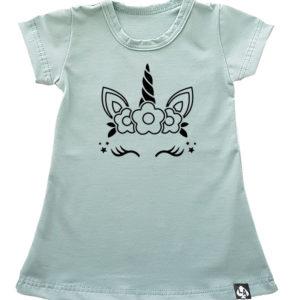 baby zomer jurkje mintgroen unicorn face